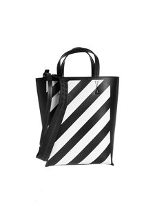 Off-White - Diag Tote bag in black and white