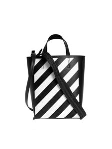 Off-White - Diagonal Tote bag in black and white
