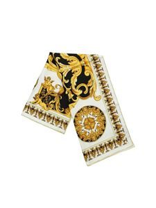 Versace - Baroque print scarf in white silk