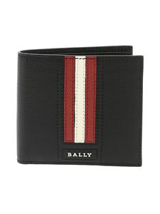 Bally - Trasai wallet in black leather with logo