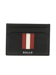 Bally - Thar card holder in black leather with logo
