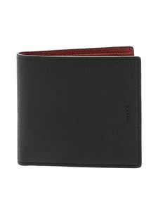 Bally - Bollen wallet leather in black with logo