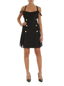 Versace - Gold metal buttons dress in black