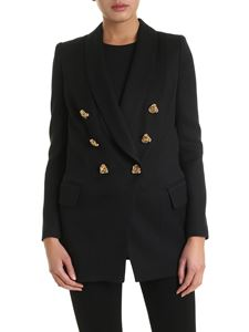 Elisabetta Franchi - Jeweled buttons jacket in black