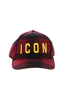 Dsquared2 - Icon print cap in check