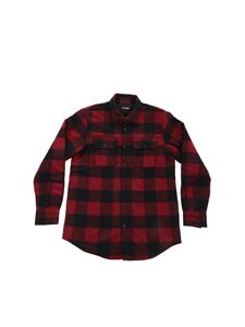 Dsquared2 - Checked shirt in burgundy and black