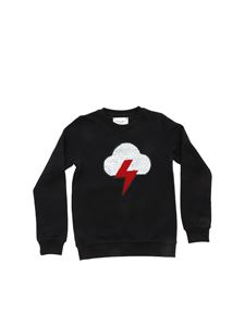 Alberta Ferretti - Black sweatshirt with cloud and lightning patch