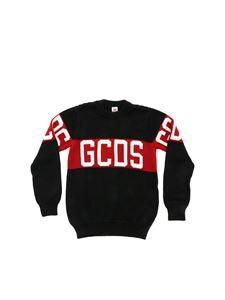 GCDS - GCDS crew neck pullover in black