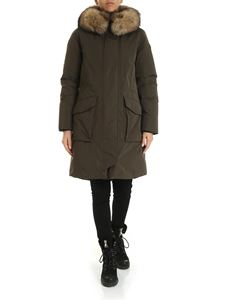 Woolrich - Military parka in Army green color