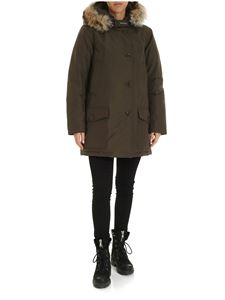 Woolrich - Parka Arctic with hood in Army green color
