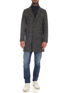 Herno - Padded coat in shades of blue and beige