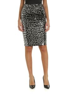 Michael Kors - Animal print sequined skirt