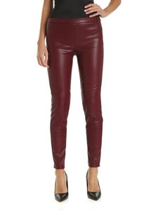Michael Kors - Burgundy eco-leather pants