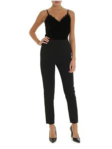 Michael Kors - Black jumpsuit with chenille top