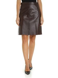 Max Mara Weekend - Tangier skirt in brown leather