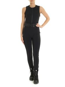 Moncler Grenoble - Logo patch technical fabric jumpsuit in black