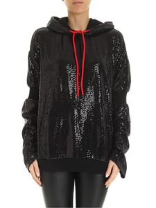 Marcelo Burlon - Sequins effect sweatshirt in black