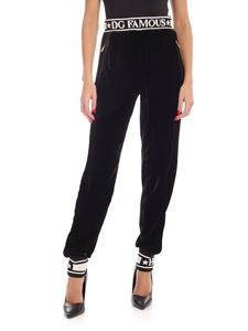 Dolce & Gabbana - Black pants with contrasting details