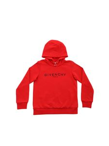 Givenchy - Givenchy print hoodie in red