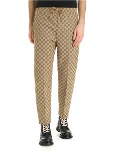 Gucci - GG canvas trousers in beige