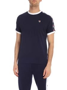 Fila - Luca T-shirt in blue with branded bands