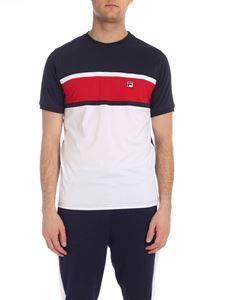 Fila - Conte t-shirt in white blue and red