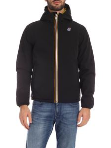 K-way - Jacques Warm Double down jacket in black and green