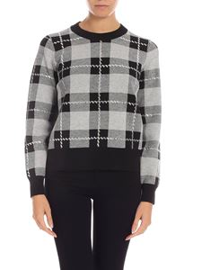 Michael Kors - Checkered pullover in black and grey