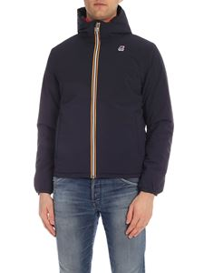 K-way - Jacques Warm Double down jacket in blue and red