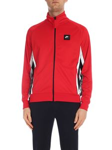 Nike - Red sweatshirt with black and white stripes
