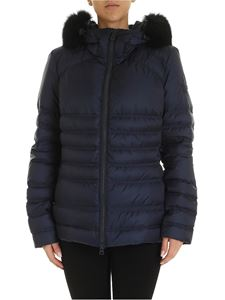 Peuterey - Bell blue down jacket with fur
