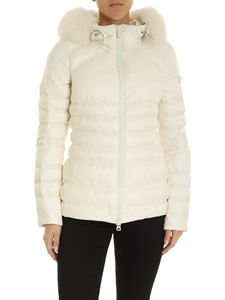 Peuterey - Bell white down jacket with fur