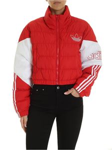Adidas - Adidas Originals Cropped Puffer Down Jacket in red