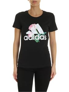 Adidas - T-shirt Must Haves Flower nera