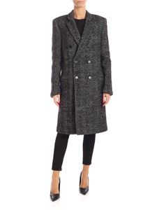 Saint Laurent - Double-breasted coat in black and white
