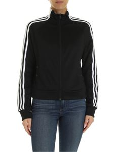 Adidas - Id 3 Stripes Snap sweatshirt in black