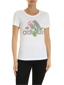 Adidas - T-shirt Must Have Flower bianca