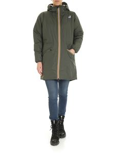 K-way - Le Vrai 3.0 Celine long jacket in green