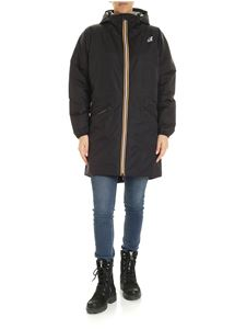 K-way - Le Vrai 3.0 Celine long jacket in black