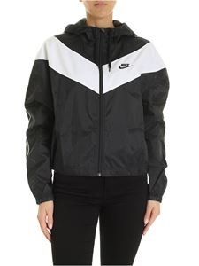 Nike - Contrasting band jacket in black