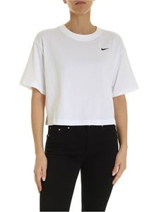 Nike - Crop t-shirt in white with logo