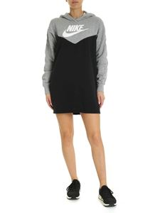 Nike - Black dress with white contrasting print