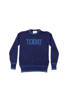 Alberta Ferretti - Today pullover in lamè blue
