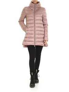 Save the duck - Down jacket with logo patch in pink