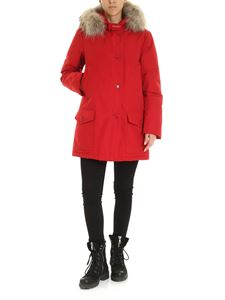 Woolrich - Hooded Arctic parka in red