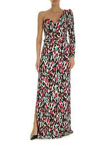 Elisabetta Franchi - Long dress with multicolor print