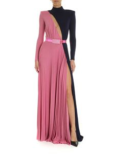 Elisabetta Franchi - Two-tone long dress in fuchsia and blue