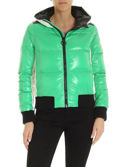 Colmar - Iconic patch logo down jacket in green
