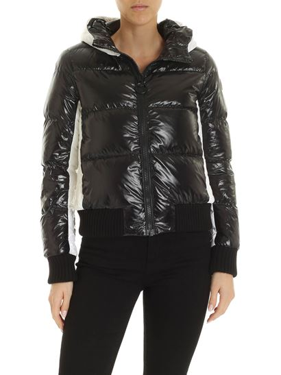 Colmar - Logo patch down jacket in black