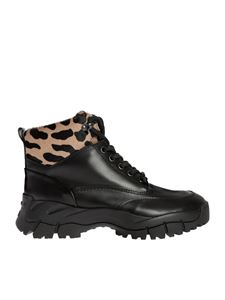 Tod's - Black ankle boots with animalier details